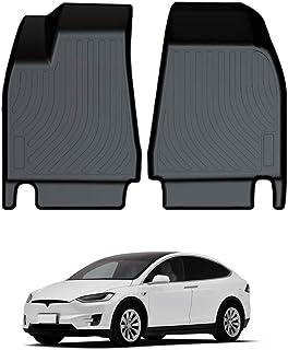Mixsuper Front Floor Mat Custom Fit All Weather 3D Protect Durable Odorless TPO Carpet Liner Set for Tesla Model X 5/6/7/Seats All Models