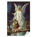 Postereck - 0154 - Schutzengel, Kinder Altes Gemälde Engel