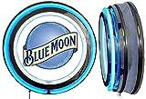Checkingtime LLC 19' Blue Moon Beer Neon Sign, White Inside Neon Tube, Blue Outside Tube