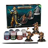Games Workshop 99170218003 - Stormcast Eternals + Paint set - Warhammer Age of Sigmar - 3 Figuras (Sequitors) + 6 Pinturas diferentes y un Pincel (Set de Pinturas para las Miniaturas)