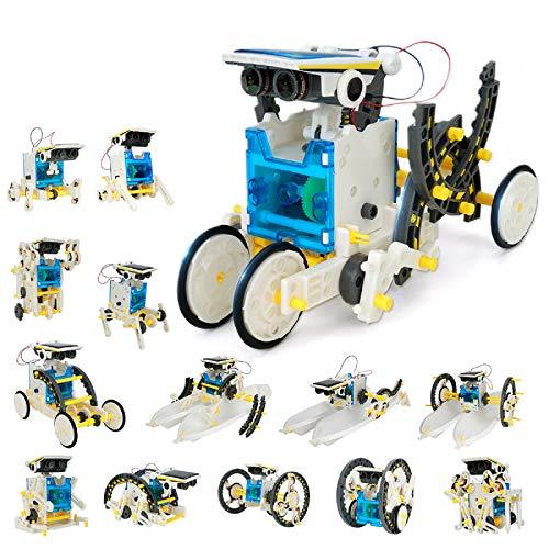 Robot Jouet Enfant 203 PièCes - Robot Solaire - Kit Robot A Construire De Jeux De Construction Enfant - Stem Robot Solaire éNergie Et Scientifiques pour Jeux Exterieur Et Amateurs De Science (14 en 1)