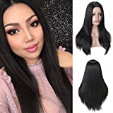 Pema Hair Extensions And Wigs Full Head Long Wavy Hair for Women (Black)