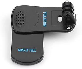 TELESIN 360°回転式 クリップ マウントDJI OSMO Action/Gopro Hero 7/6/5/4/3などのスポーツカメラに対応