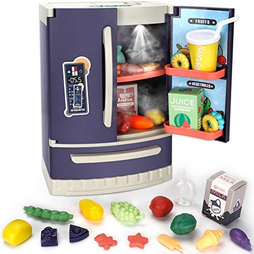 Juego de 30 piezas para nevera, juego de cocina, juguetes de electrodomésticos de cocina, accesorios de juego de cocina con vapor de...