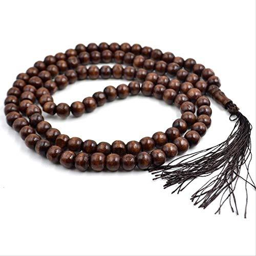 HMANE 10mm Borla Mala Oración Abalorios 108 Cuentas Budismo Hinduismo y Yoga Collar Joyería de Moda