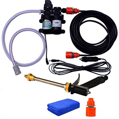Car wash supplies Roscloud@ Doppelpumpe-Hochdruckreiniger Auto-Waschmaschine 160W elektrisches intelligentes Wasser-Pumpen-Auto 12V (Farbe : A)