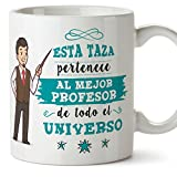 MUGFFINS Taza Profesor (Hombre)- El Mejor Profesor del Universo - Taza de Café/Desayuno - Regalos Originales para Profesores y Maestros - Cerámica 350 ml / 11oz