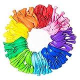Juego de Globos Arco Iris de 30 cm, Surtido de Colores Brillantes, Hechos con Látex Multicolor Fuerte, Para Uso de Helio o Aire. Fiesta de cumpleaños para niños, bodas, fiestas de cumpleaños, etc.
