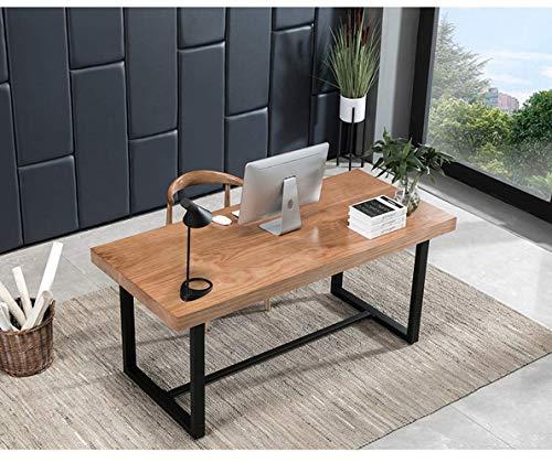 SYZMA Escritorio Escritorios, Mesa de Oficina?Mesa para Ordenador de Oficina en Casa Y Escritorios de Madera Maciza, Diseño Nórdico, Estructura Estable, Fácil de Montar (120 * 60 * 75cm)