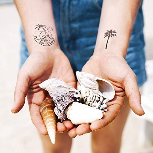 conjunto de 2 Tiny Moon Tatuaje temporal