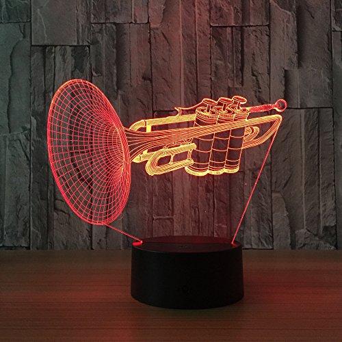 3D LED Illusion Lampe Suona 7 Farben LED Nachtlampe Geburtstagsfeiertag Geschenk Spielzeug Stimmung Licht Fernbedienung Ändern mit Tragbare USB-Aufladung oder Batterie
