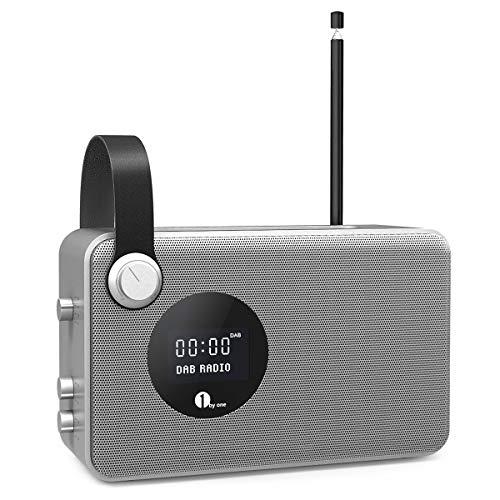 1byone DAB / FM Wireless Radio, Radio digital portátil con el despertador / FM / Pantalla LCD /...