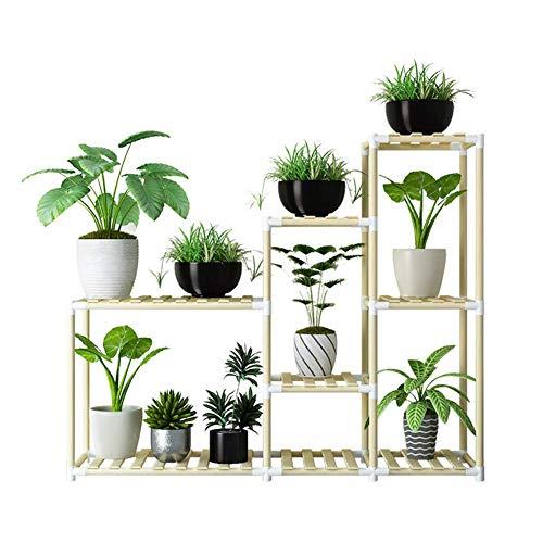 AMYZ Planta de Madera Soporte de exhibición de Flores Estante de Madera para macetas Estante de Almacenamiento Soporte para macetas de Interior al Aire Libre,C