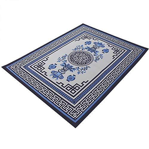 Yuts Chinese tapijt woonkamer bank salontafel slaapkamer rechthoekige vloer mat, Chinese stijl feestelijke decoratie (kleur: Retro Auspicious donker rood)