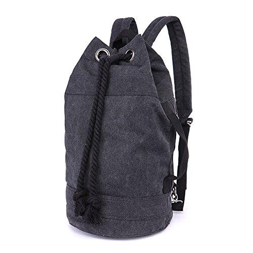 LOSMILE Rucksäcke Damen Herren Daypacks Seesack Leinwand Rucksack Canvas Reisetaschen Umhängetasche Weekender Schultertaschen.