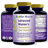 BioMed Health Hair Growth Vitamins - Advanced Restorative Hair Nutrients, Promotes Hair Regrowth and Anti-Gray Hair - 120 Vegan Capsules (Women)