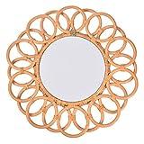 Concey Espejo de Mimbre, Espejos Decorativos Circulares para decoración de...