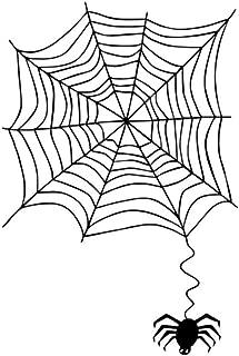 Yiiuii Etiqueta De La Pared Divertido Araneid Spider Web Vinilo Diy Pared De Fondo Dormitorio Sala De Estar Niños Casa Decoración Del Hogar 70X58Cm