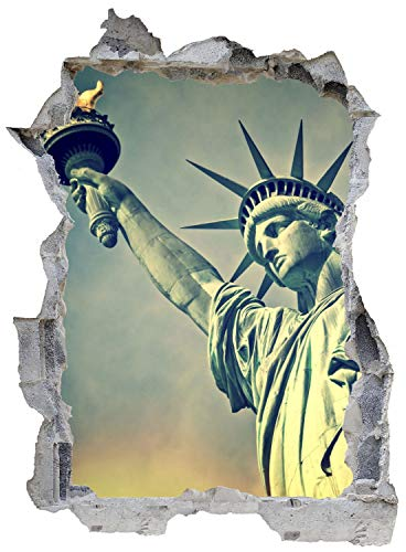 New York Freiheitsstatue Wandtattoo Wandsticker Wandaufkleber E0512 Größe 46 cm x 62 cm