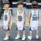 Niños baloncesto ropa bebé traje hombres y mujeres kindergarten verano escuela primaria estudiantes, blanco, L