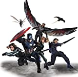 7 Inch Team Cap Winter Soldier Ant Man Hawkeye Falcon Agent 13 Captain America Civil War Marvel Avengers Comics Removable Wall Decal Sticker Art Home Decor Kids Room Boys Decoration 7 1/2 x 7 inches
