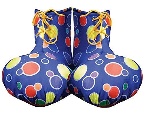 Dress Up America - Copriscarpe per adulti blu Clown