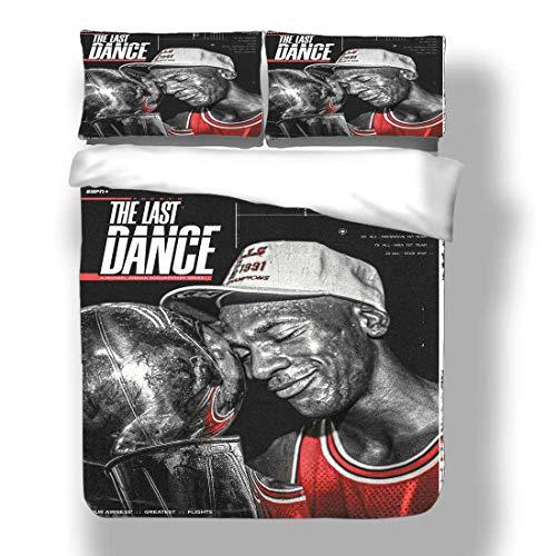 Duvet Cover Set Michael Chicago Basketball Player 23 Bedding Air Jordan Bulls Super Star Power Shooting Starter Quilt Coverlet with 2 Pillow Shams Washington MJ His Airness Wizards
