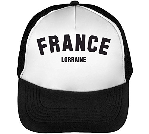 France Heren Baseball Trucker Cap Hat Snapback Black White