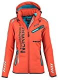 Geographical Norway Veste de Sport Softshell pour Femme - Orange - M