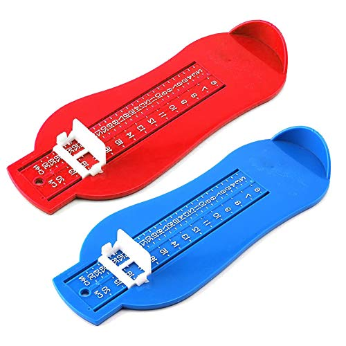 QWEPU 2PCS Medidor de pie para bebé, unisex Medidor de pie profesional para niños zapatos, medidor de medición, herramienta para calculadora, 0-6 años