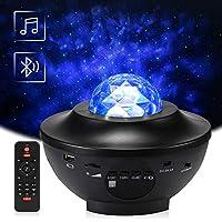 Proyector Giratorio de Luz Estelar, Delicacy LED Cambiar Color Reproductor de Música con Bluetooth y Temporizador, Lámpara Luces Nocturnas de Nebulosa con Control Remoto, Niños/Decoración/Regalo