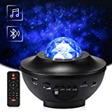 LED Rotierende Sternenlicht Projektor, Delicacy Bluetooth Musik Sternenprojektor, Wasserwellen Projektor Lampe mit Timer & Fernbedienung, für Geschenke/Dekoration/Kinder/Erwachsene