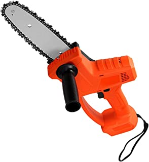 Chainsaw Lithium Battery Chain Saw, 10in 2000mAh Household Chainsaw, Logging Saw with Brushed Motor for Tree Branch Wood C...