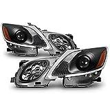 ACANII - For HID/AFS 2006-2011 Lexus GS300 GS350 GS450h GS460 Headlights Projector Black Driver + Passenger Side