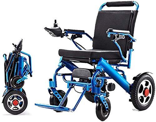 WJSWD Sillas de ruedas eléctricas para adultos silla de ruedas discapacitados silla de ruedas eléctrica de aluminio ligero plegable silla de ruedas para ancianos y discapacitados