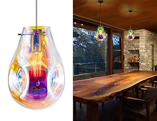 Modern Glass Island Pendant Light Lava Irregular Shape Chic 1 Light Chandelier Colorful Contemporary...