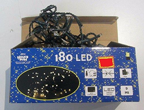 House of Fun LED Extérieur LED Blanc Chaud 180 Utilisation EST/INT Jeux de Lumière LED avec Câble 9 M ALIM 4 M Blanc