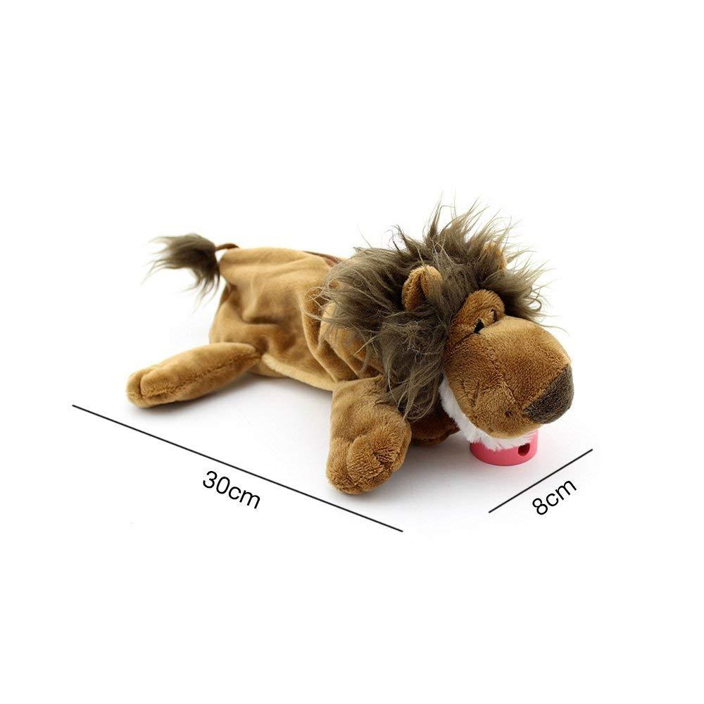 Yobeyi - Estuche de peluche para lápices, diseño de animales, gran capacidad, versátil, 30 cm, marrón león, 11.8 inches: Amazon.es: Juguetes y juegos