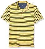 Amazon Essentials Men's Slim-Fit Pocket Jersey Polo, Mustard Stripe, Medium