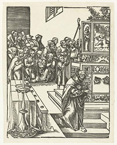 Lucas Cranach The Elder Giclee Kunstdruckpapier Kunstdruck Kunstwerke Gemälde Reproduktion Poster Drucken(Martyrium des Apostels Johannes der Theologe lebendig in seiner Krypta begraben) #XZZ