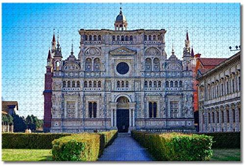 Nicoole Italia Pavia Certosa Puzzle per adulti Bambini 1000 pezzi Gioco puzzle in legno per regali Decorazione domestica Souvenir di viaggio speciali