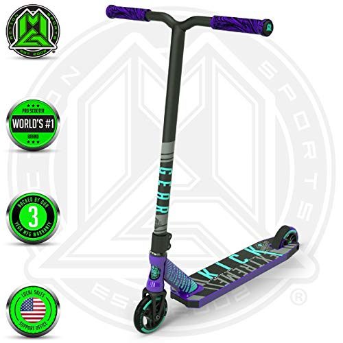 Madd Gear MGP Kick PRO Scooter – Suits Boys & Girls Ages 6+ - Max Rider Weight 220lbs – 3 Year Manufacturer's Warranty – World's #1 Pro Scooter Brand – Built to Last Est. 2002