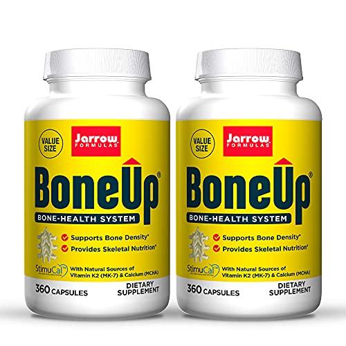 Jarrow Formulas BoneUp - 360 Capsules, Pack of 2 - Micronutrient Formula for Bone Health - Includes Natural Sources of Vitamin D3, Vitamin K2 (as MK-7) & Calcium - 360 Total Servings