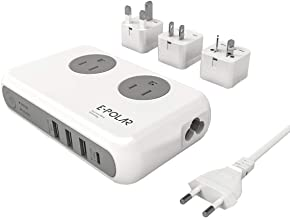 Voltage Converter and Travel Adapter,E-POLAR 220V to 110V Power Step Down Converter with 4 USB...