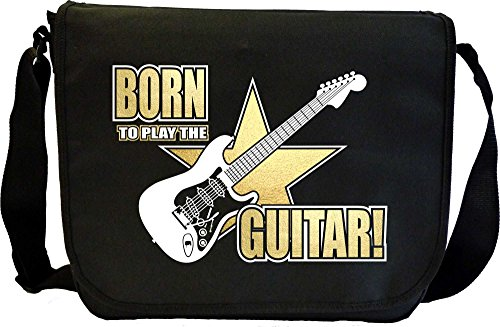 Musicalitee Electric Guitar Born To Play - Sheet Music Document Bag Musik Notentasche