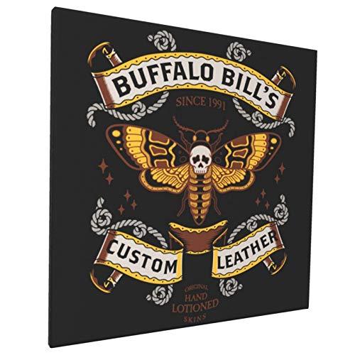 Buffalo Bill'S Custom Leathers - Lienzo decorativo para pared (40 x 40 cm), diseño bohemio de la India