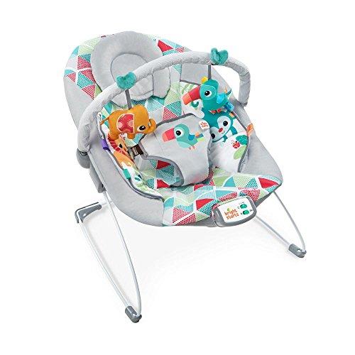 Hamaca para bebés Bright Stars Happy Safari – con juguetes interactivos