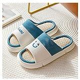 Pantuflas Zapatillas de lino doméstico Mujeres de verano de...