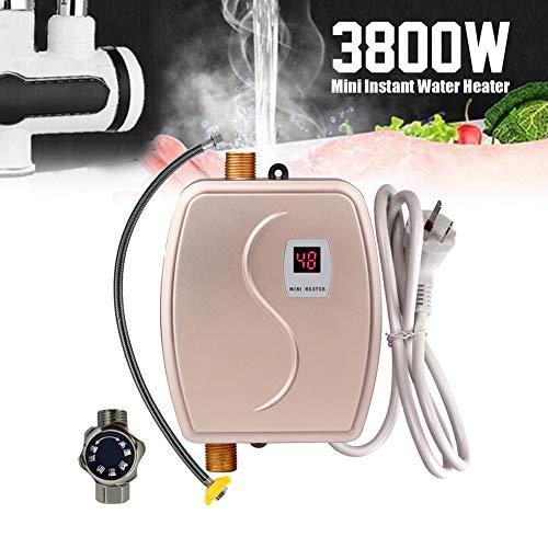 Sofortiger heißer Hahn, 3800W 220V 110V Durchlauferhitzer-Küchen-Heizungs-Thermostat-intelligenter energiesparender wasserdichter,Gold