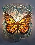 Monarch Butterfly Wing Recycled Glass Nature Art Night light, Nightlight, Nitelite, enlightened Gift